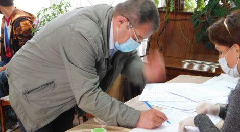 Хвастовичский район активно включился в выборы.