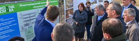 Владислав Шапша познакомился с ходом реализации значимых социально-экономических проектов в Хвастовичском районе