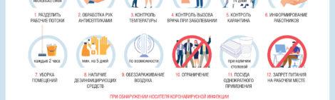 О рекомендациях для работодателей по профилактике коронавирусной инфекции на рабочих местах